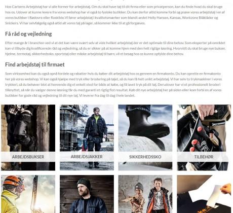 Carlsens arbejdstøj webshop