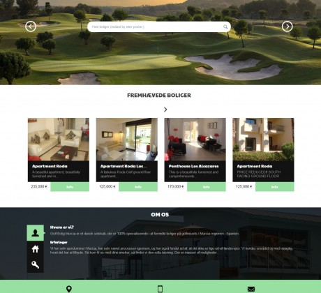 Wordpress website til Golfbolig Murcia