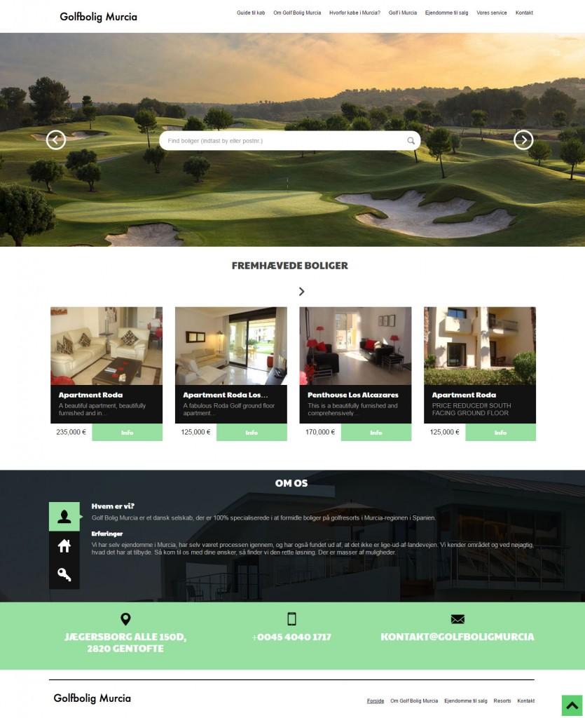 Wordpress website til Golfbolig Murcia