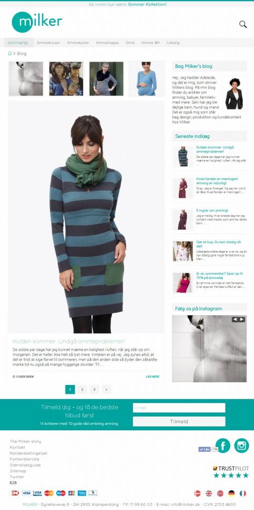 Wordpress blog til Milker