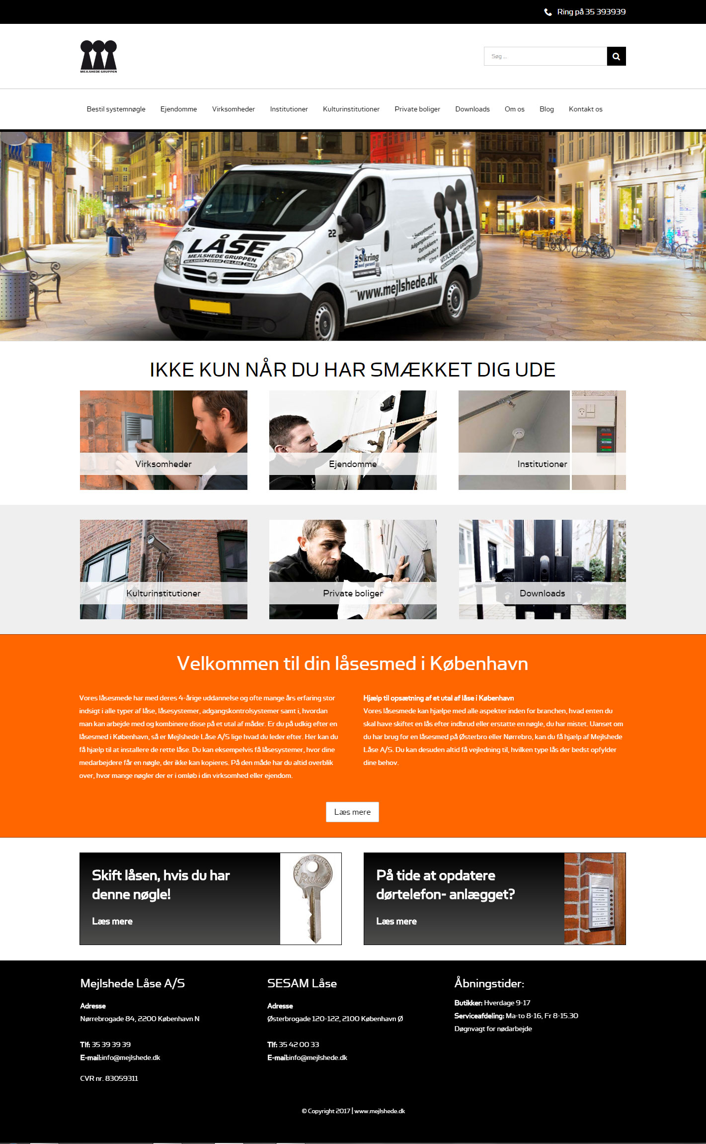 wordpress website til mejlshede.dk