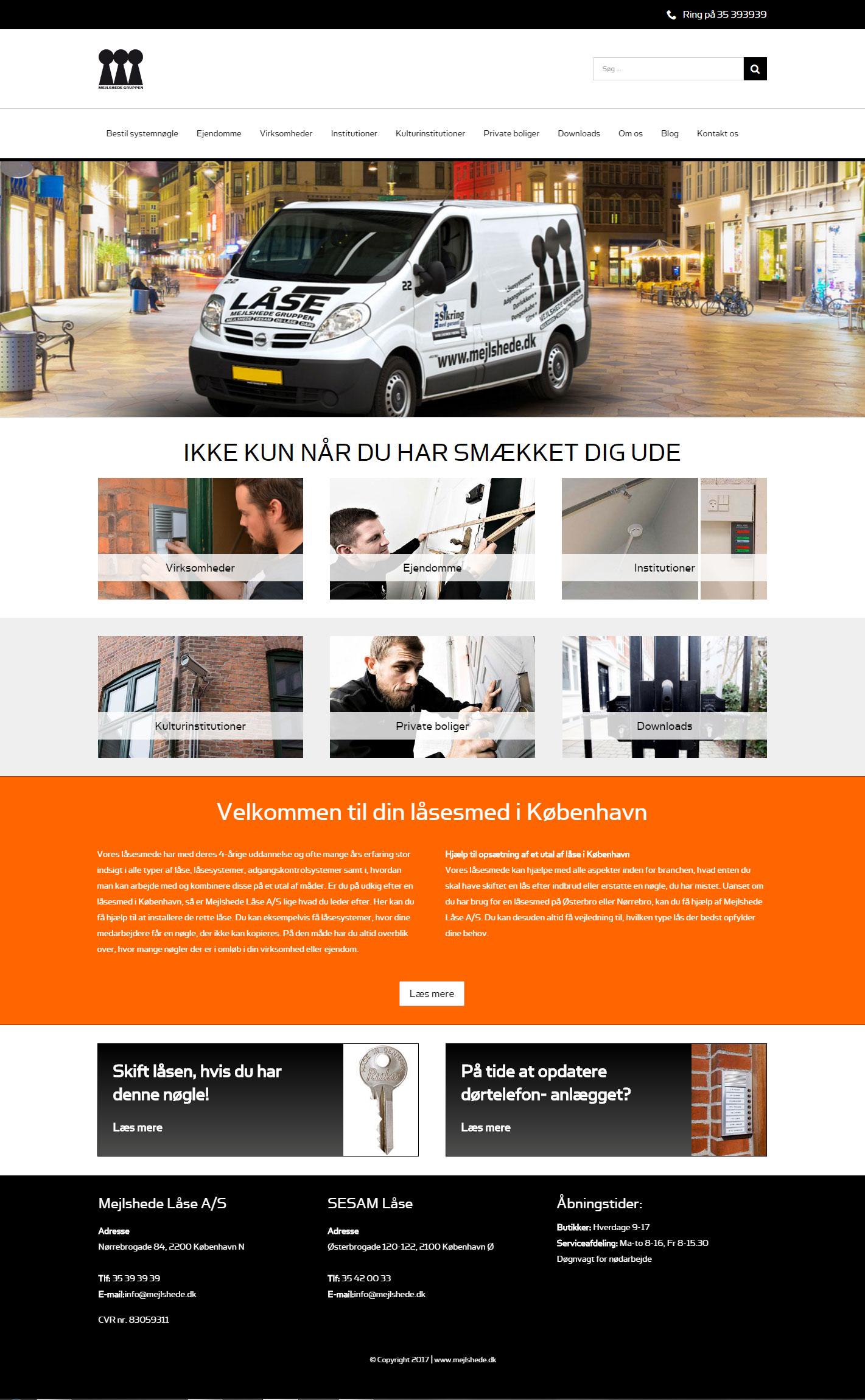 wordpress website til mejlshede.dk