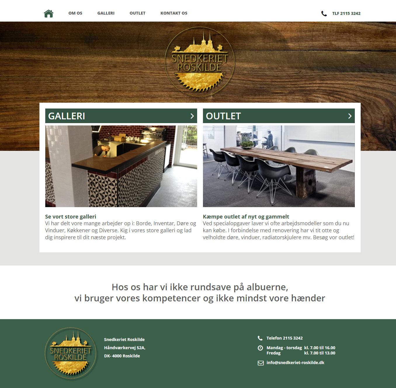 Wordpress side til Snedkeriet-Roskilde