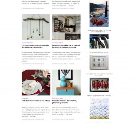 Nyt wordpress blog design til Tina Dalbøge