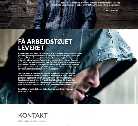 Kampagnewebsite til Carlsens demoshop