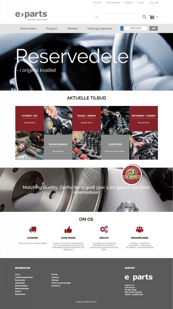 E-parts Magento webshop